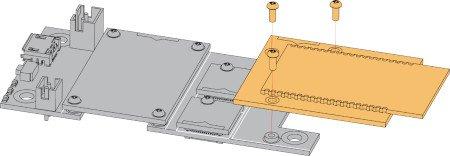 Sposób montażu modułu z płytką bazową.