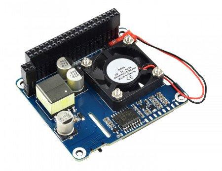 Power over Ethernet HAT (B) - nakładka zasilająca PoE i sieciowa 802.3af - do Raspberry Pi 3B+/4B