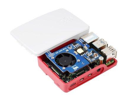 Przedmiotem sprzedaży jest nakładka Power over Ethernet HAT (D) - kompatybilna z oficjalną obudową. Minikomputer Raspberry Pi oraz obudowę należy nabyć osobno.