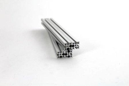 Zestaw profili aluminiowych VORON 0 anodowane srebrne 1515 100mm/200mm.