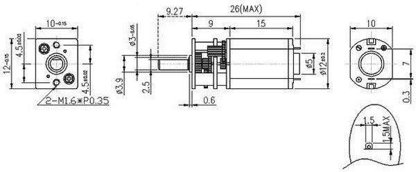 Wymiary silnika 100:1