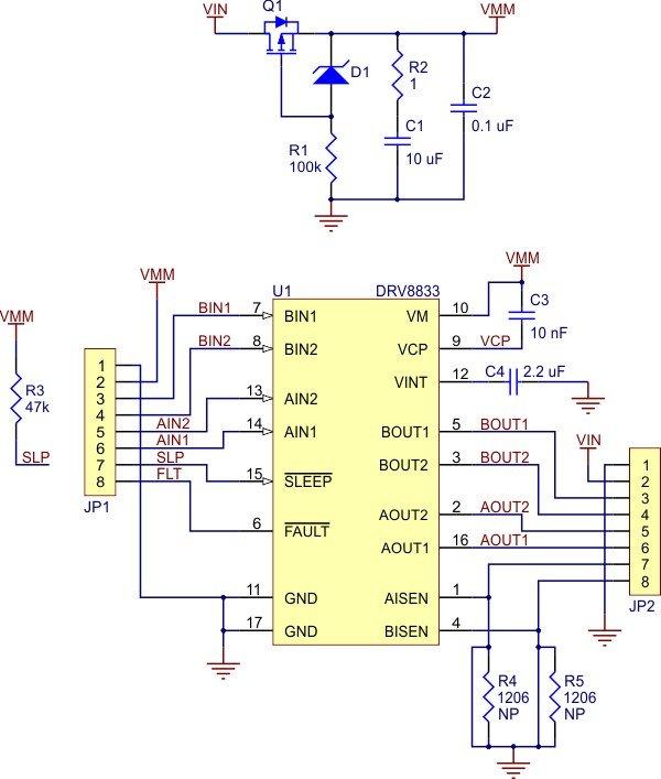 Diagram of Pololu DRV8833