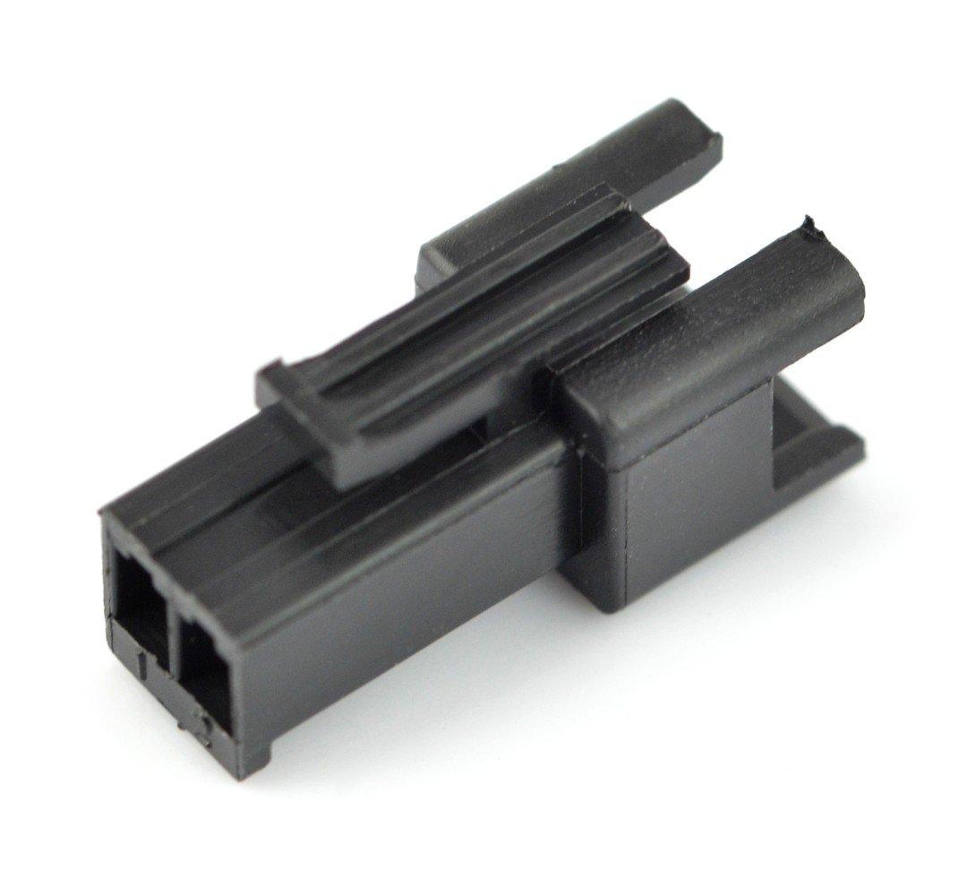 Obudowa wtyku męskiego 2-pinowego - raster 2,5mm - 5szt.
